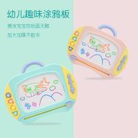 小孩宝宝涂鸦板玩具婴幼儿磁性写字板笔儿童1-3岁2彩色磁力画画板