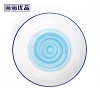 当当优品 7.5寸日式餐盘两只装 星空系列 手绘餐具 蓝色