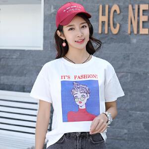 AGECENTRE 2018春夏装新款夏装T恤女短袖韩版宽松夏季女装2018新款上衣服