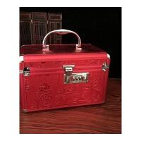 首饰盒结婚镜箱新娘密码箱珠宝钱箱百宝箱嫁妆镜箱陪嫁收纳盒 首饰盒
