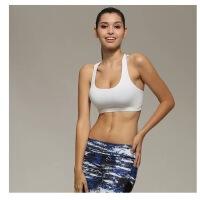 瑜伽服女带无钢圈运动文胸胸垫防震瑜珈内衣美背聚拢 WX1014 白色