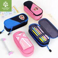 韩国kk树小学生笔袋儿童文具盒铅笔盒男女孩大容量多层简约笔袋
