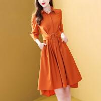 时尚设计感小众连衣裙女秋装2019新款时髦不规则流行裙子