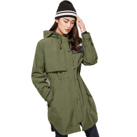 秋冬新款女士三合一冲锋衣中长款风衣防风防水外套潮
