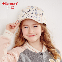 kenmont儿童帽子纯棉鸭舌帽女童夏天防晒太阳帽韩版潮时尚棒球帽4714