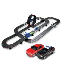 男孩竞技赛车电动小汽车赛道儿童遥控轨道车轨道赛车玩具