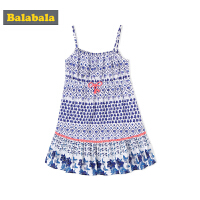 巴拉巴拉童装女童连衣裙小童裙子儿童演出服吊带裙夏装2018新款潮