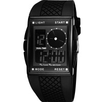 正品 奥迪斯OTS电子表方形学生防水潮时尚男士多功能户外运动手表
