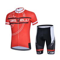 骑行服短袖套装男夏季蝎子自行车衫户外单车速干短上衣短裤