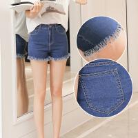 牛仔短裤女热裤夏季韩版新款热裤毛边大码修身显瘦大码裤