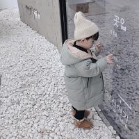 男女宝宝冬装羽绒棉衣中长款外套儿童装