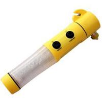 多功能四合一汽车安全锤 救生锤逃生破窗器 应急消防锤手电筒弱磁
