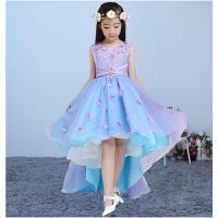 儿童礼服女童生日公主裙小孩婚纱裙拍照表演服装走秀拖尾蓬蓬长裙