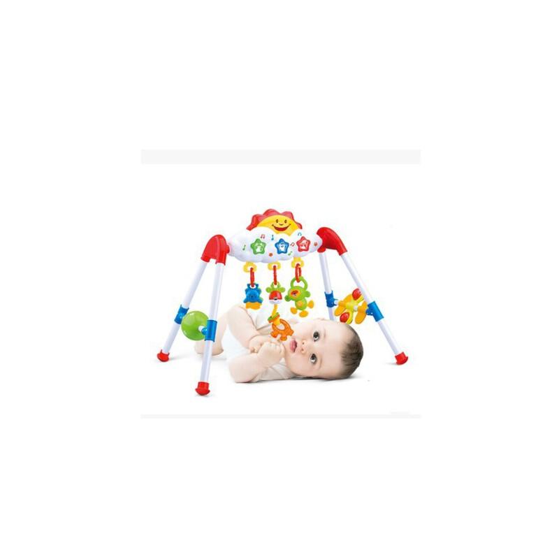 美贝乐儿童折叠健身架婴儿玩具0-1岁早教婴儿健身器音乐健身架