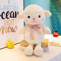 创意羊公仔小绵羊山羊小羊驼毛绒玩具布娃娃玩偶按摩抱枕生日礼物女友