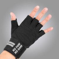 加压护腕健身手套男器械半指力量训练举重锻炼哑铃运动防滑透气运动护具
