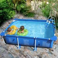 夹网加厚婴儿童游泳池家庭超大支架家用加厚户外泳池充气水池
