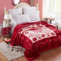 家纺2017秋冬款棉被子毛毯加厚保暖双层盖毯宿舍珊瑚绒毯子床单单人双人床上用品 200*230 9斤