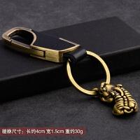 手工纯铜貔貅钥匙扣挂件男士汽车钥匙扣个性创意礼物