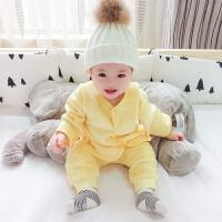 婴儿家居套装男童秋冬装保暖1岁儿童宝宝冬季衣服