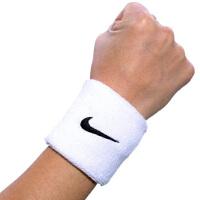 Nike耐克 SWOOSH运动短护腕 篮球/足球/羽毛球防护男女运动护腕 护具一副装 吸汗