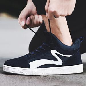 【限时特价】Q-AND/奇安达2018新款男士帆布高帮板鞋学生韩版潮流休闲鞋板鞋