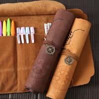 文具盒男女韩国简约多功能大容量卷笔帘初中学生小学生创意铅笔袋
