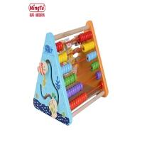 算术宝宝积木玩具五合一翻板儿童智力开发英文拼音