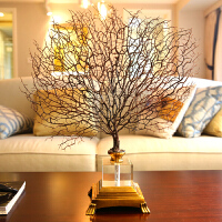 样板房别墅高端软装饰品摆件 客厅新古典美式海铁树造型家居摆设 海铁树