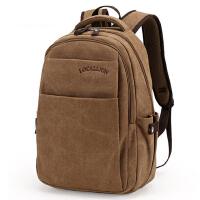 韩版帆布男包大学生书包双肩包男士背包旅行包高中时尚潮流运动包
