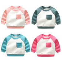 女婴儿童上衣服6个月宝宝加绒加厚T恤打底衫秋冬装