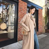 风衣外套女中长款20秋装新款韩版学生宽松显瘦修身长袖过膝风衣