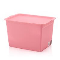 炫彩塑料收纳箱整理箱零食化妆品储物箱衣柜衣物收纳盒桌面整理盒