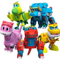 恐龙探险队棒棒龙变形机器人韦斯全套儿童玩具灵动帮帮龙出动玩具