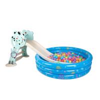 多功能小型折叠上下滑梯儿童室内塑料滑滑梯宝宝滑梯加长家用玩具 小虎款165CM+底座+套圈+球池套 餐 高配(蓝
