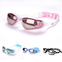 泳镜+男士游泳眼镜带耳塞套装女士防水防雾高清电镀泳镜装备