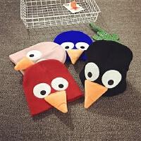 儿童毛线帽冬季针织帽保暖护耳帽宝宝帽子韩版潮男女童秋季亲子帽