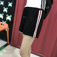 跑步运动短裤女夏2018新款休闲阔腿韩版宽松显瘦薄款裤子