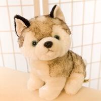 仿真动物狗玩偶抱枕生日礼物女生哈士奇公仔毛绒玩具布娃娃