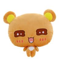 维莱 情侣思念小熊毛绒玩具泰迪熊公仔娃娃可爱小熊抱枕靠垫创意女礼物 棕色汪汪眼 35*40cm