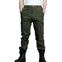 AOTU 休闲裤多口袋工作服运动户外军迷服饰 军绿色
