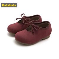 巴拉巴拉童鞋女童单鞋公主鞋2018新款秋季小童儿童牛皮鞋平底鞋女