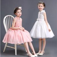 儿童公主裙蓬蓬裙宝宝生日晚礼服女童演婚纱裙春装小花童中式礼服
