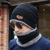 冬季男士帽子韩版潮时尚毛线帽保暖针织冬天防寒棉帽青年户外骑车