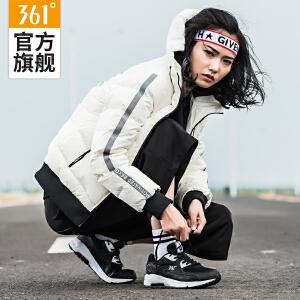 【低价直降】361度女鞋冬季新款Sacair气垫跑步鞋女361反绒皮复古休闲跑鞋