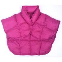 男女中老年纯色羽绒护肩坐月子空调冬季保暖睡觉男女披肩