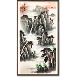 何兆强《泰山日出》著名山水画家