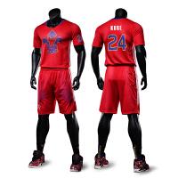 新款春秋季篮球衣男东部西部篮球服套装 定制短袖训练服印号队服 团队个性定制 X