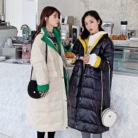 【极速发货 超低价格】2020新款秋冬棉服女长款宽松学生bf棉衣闺蜜装面包服外套保暖