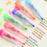 韩国文具 彩色香味糖果色荧光标记笔 荧光笔水彩笔油性记号笔彩色